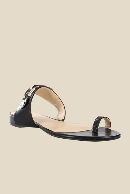 Nine West Black Toe Ring Sandals