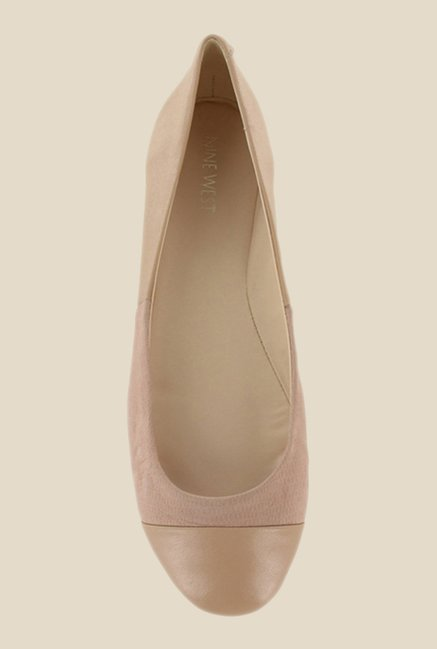 Nine West Nude Flat Ballets