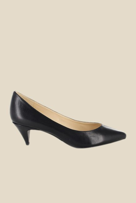Nine West Black Cone Heeled Pumps