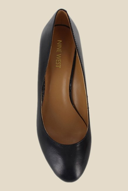 Nine West Black Wedge Heeled Pumps