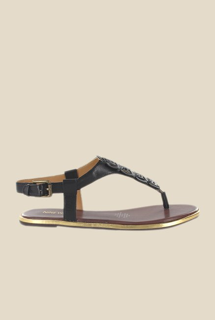 Nine West Black Back Strap Sandals