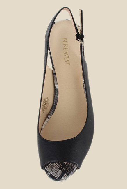 Nine West Black Back Strap Stilettos
