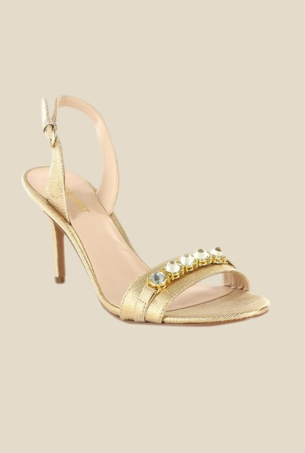 Nine West Golden Back Strap Stilettos