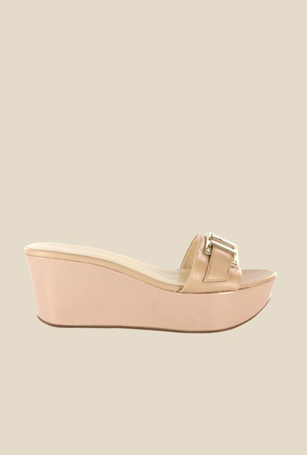 Nine West Nude Platform Heeled Sandals