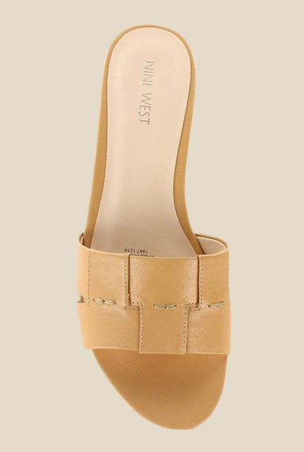 Nine West Nude Wedge Heeled Sandals