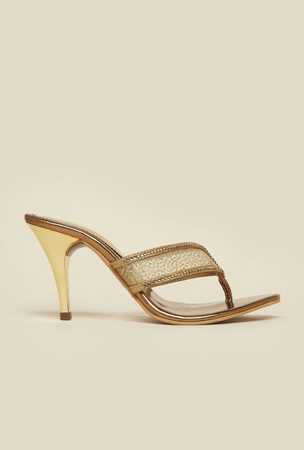 Metro Antique Gold Beaded Stilettos