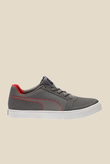 Puma Red Bull RBR Wings Vulc Smoked Pearl & Red Sneakers