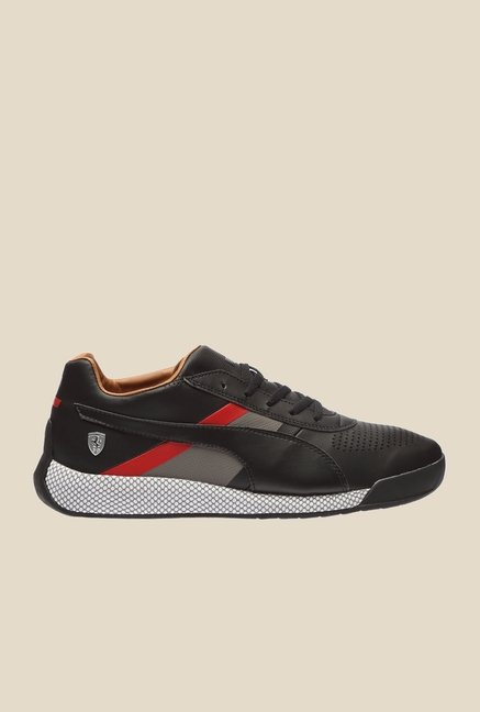 Puma Ferrari Podio SF Black & Smoked Pearl Sneakers