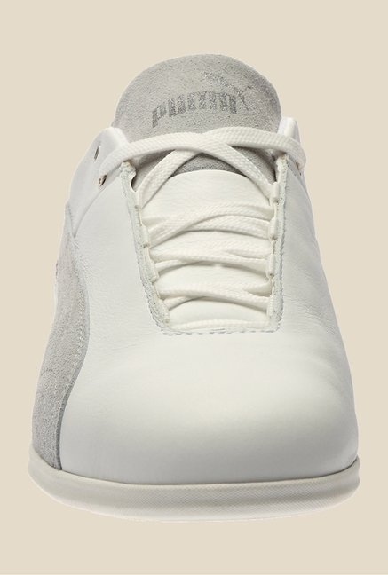 Puma Ferrari Future Cat LS SF White & Grey Violet Sneakers