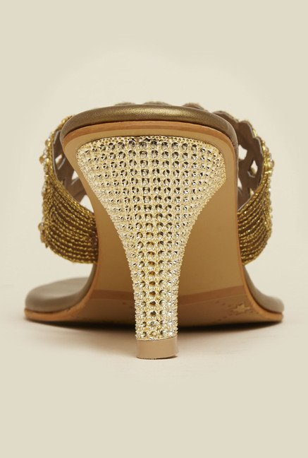Metro Antique Gold Crystal Sandals