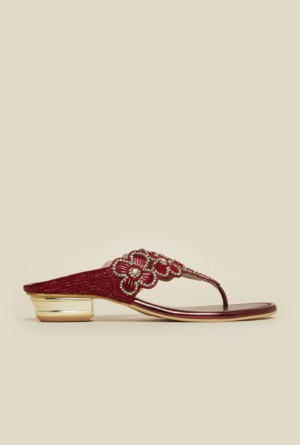 Metro Maroon Thong Sandals