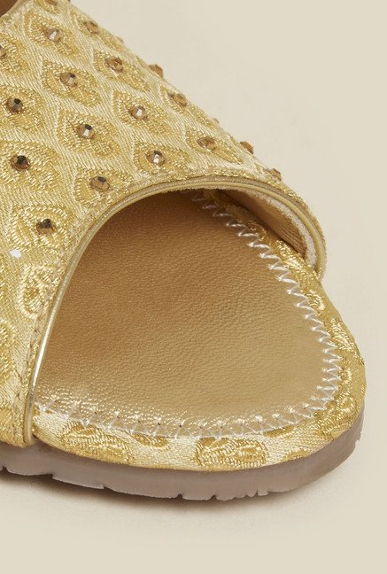 Metro Antique Gold Mules