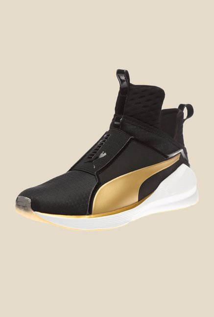 Puma Fierce Black & Gold Training Shoes