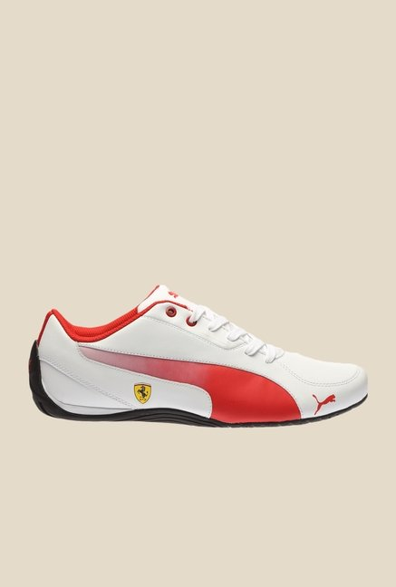 Puma Ferrari Drift Cat 5 SF H2T White & Rosso Corsa Sneakers