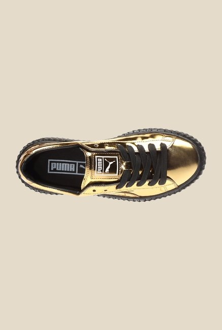 Puma Basket Creepers Metallic 2 Golden & Black Sneakers