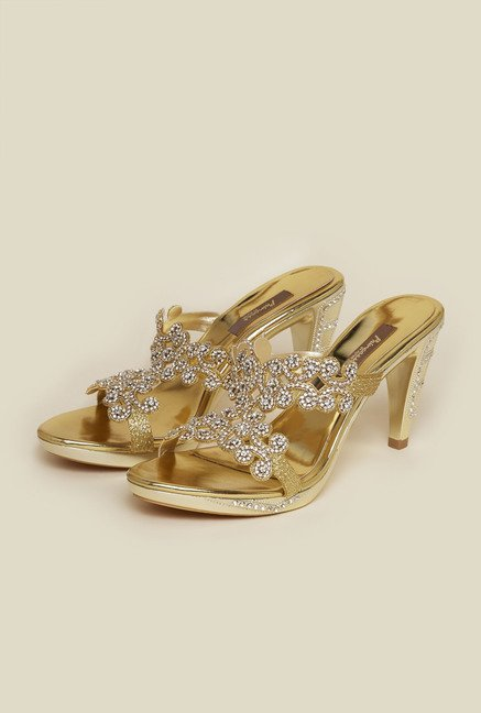 Princess by Metro Gold Mule Cone Sandal