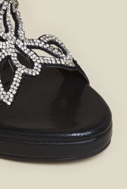 Princess by Metro Black Kitten Sandal