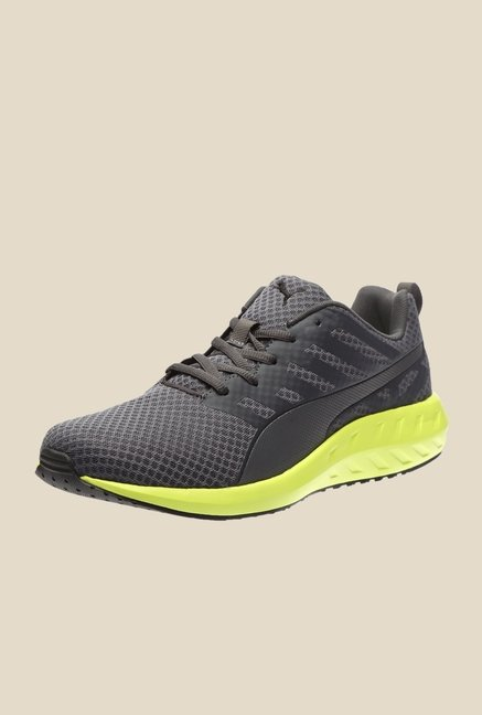 puma Flare Asphalt & Yellow Running Shoes