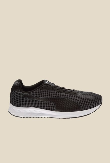 Puma Burst Black & Asphalt Running Shoes