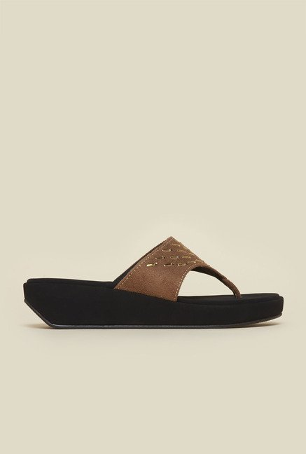 Metro Antique Gold Platform Sandals