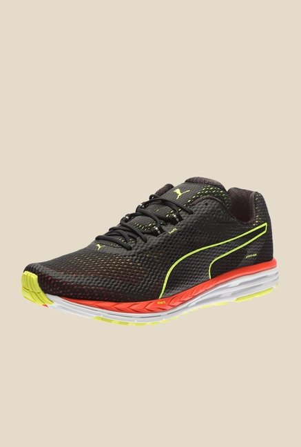 Puma Speed 500 Ignite Black & Red Blast Running Shoes