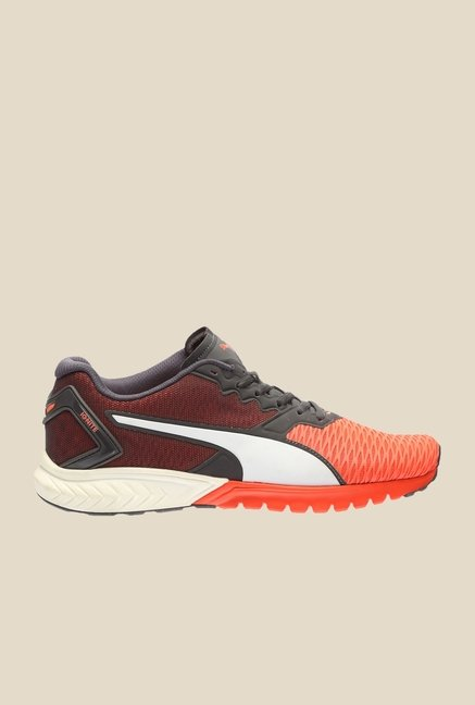 Puma Ignite Dual Red Blast & Asphalt Running Shoes