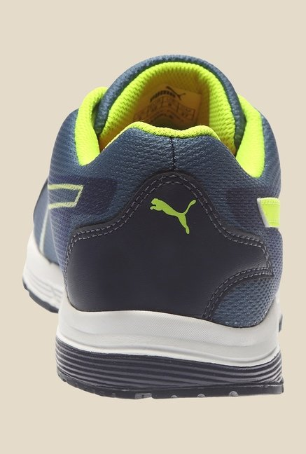 Puma Hermes H2T Blue & Safety Yellow Running Shoes