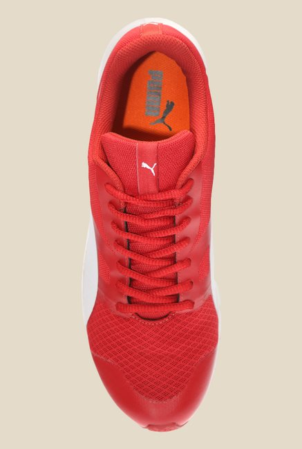 Puma Flexracer IDP Barbados Cherry & White Running Shoes