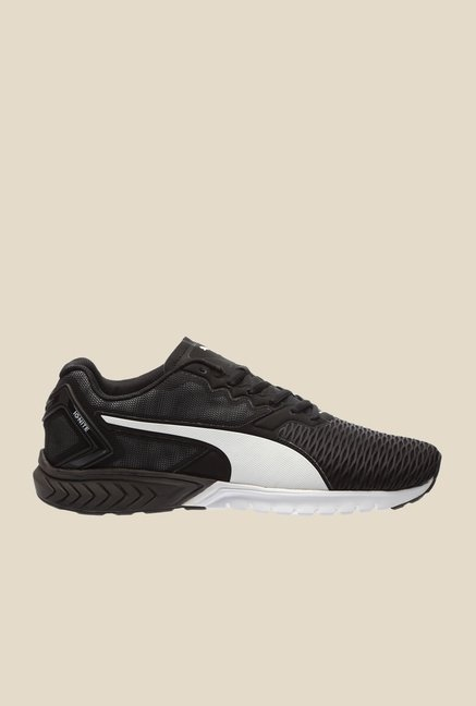 Puma Ignite Dual Black & White Running Shoes