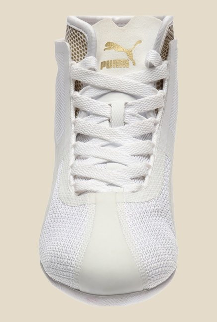 Puma Eskiva Mid Evo White & Gold Ankle High Boots