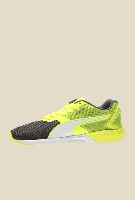 Puma Ignite Dual Safety Yellow & Grey Running Shoes