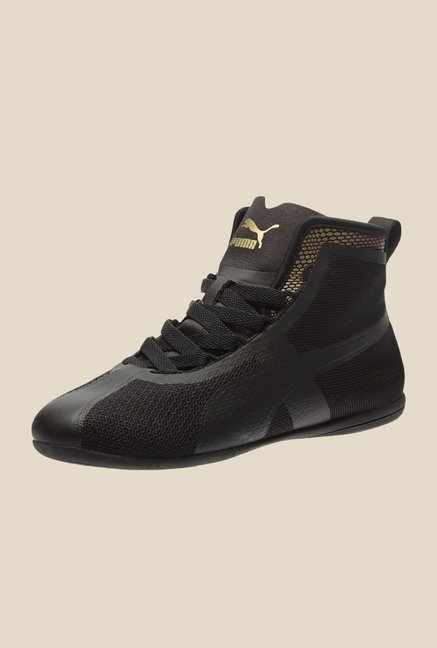 Puma Eskiva Mid Evo Black & Gold Ankle High Boots