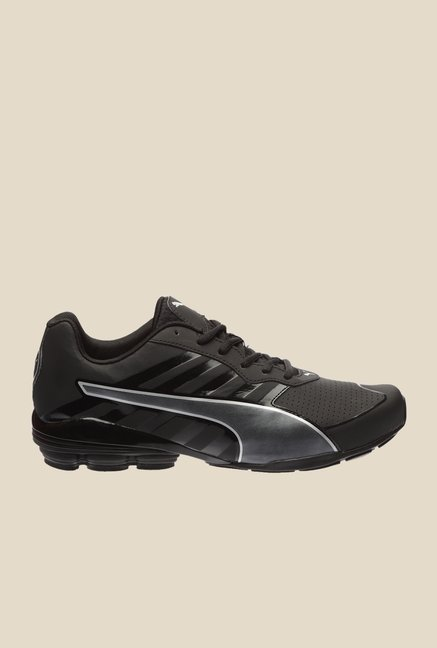 Puma Flume SL Black & Silver Running Shoes
