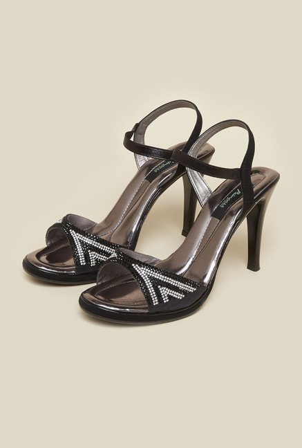 Princess by Metro Black Stiletto Sandals