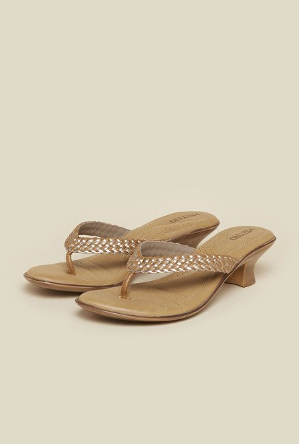 Metro Tan Braided Kitten Sandals