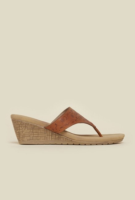 Metro Tan Wedge Sandals