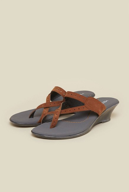 Metro Rust Wedge Sandals