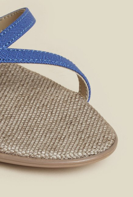Metro Blue Back Strap Block Sandals