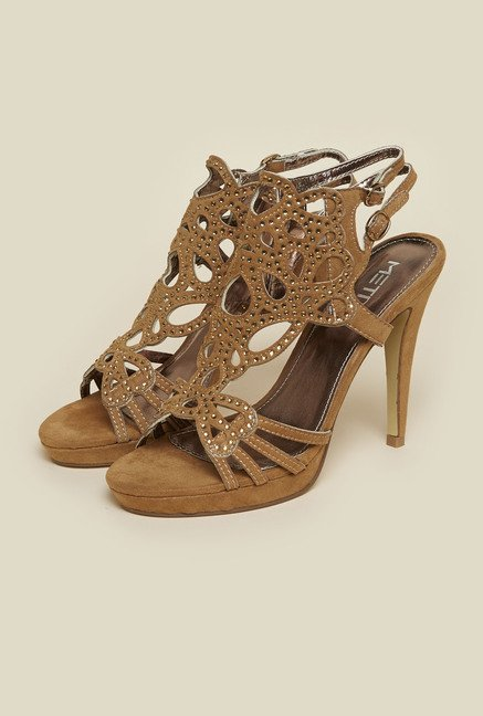 Metro Tan Back Strap Stilettos