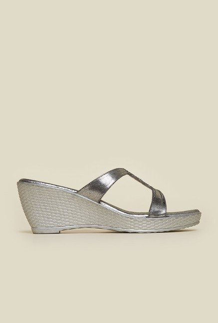 Metro Gunmetal Wedge Sandals