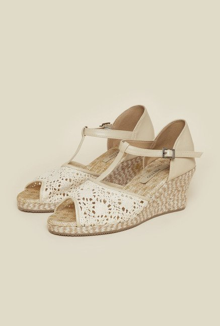 Metro Beige Wedge Sandals