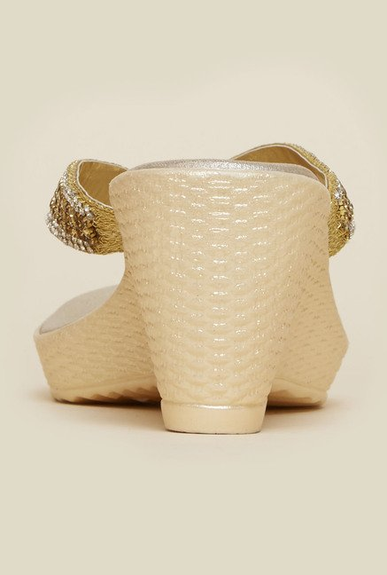 Metro Gold Wedge Sandals