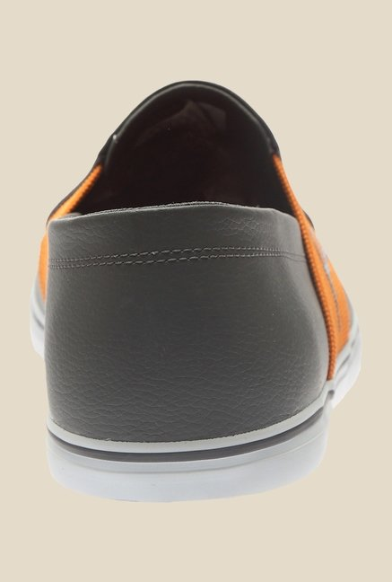 Elsu V2 SL IDP H2T Dark Shadow & Orange Plimsolls