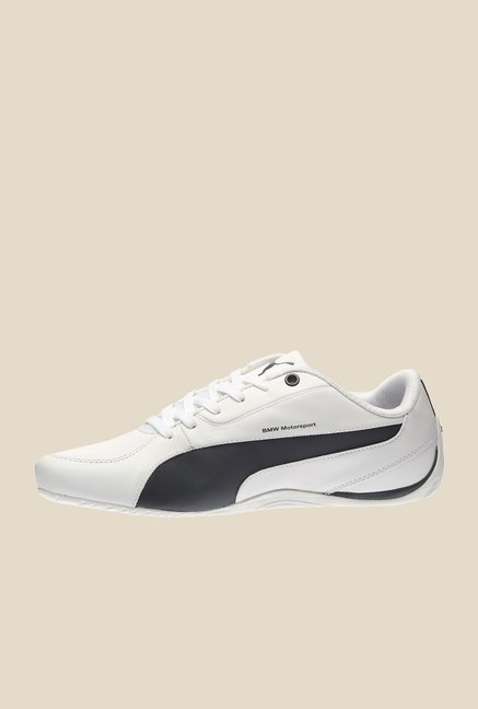 Puma BMW MS Drift Cat 5 White & Black Sneakers