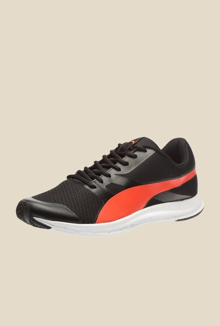 Puma Flexracer IDP Black & Red Blast Running Shoes