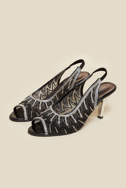 Mochi Black Stiletto Sandal