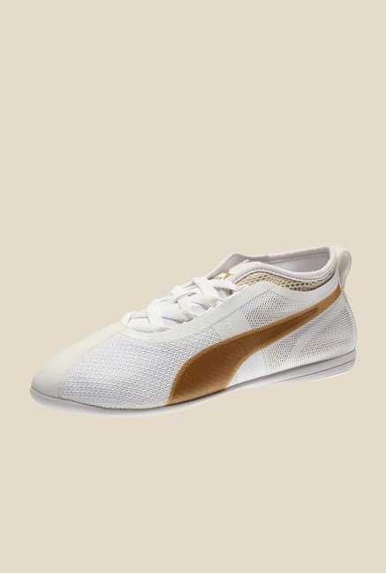 Puma Eskiva Low Evo White & Gold Casual Shoes
