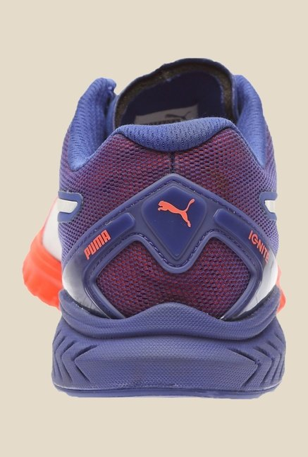 Puma Ignite Dual Red Blast & Blue Running Shoes