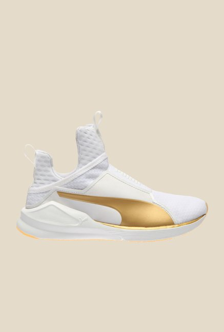 Puma Fierce White & Gold Training Shoes