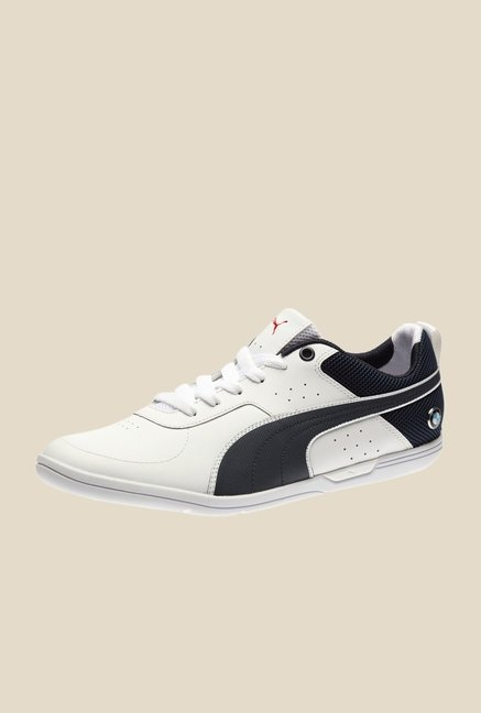 Puma BMW MS MCH LO White & Black Sneakers